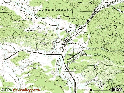 Chama topographic map