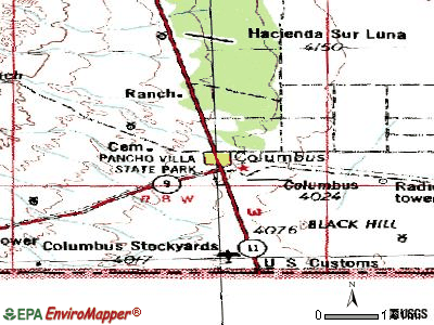 Columbus topographic map
