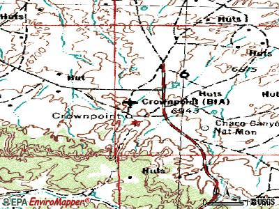 Crownpoint topographic map
