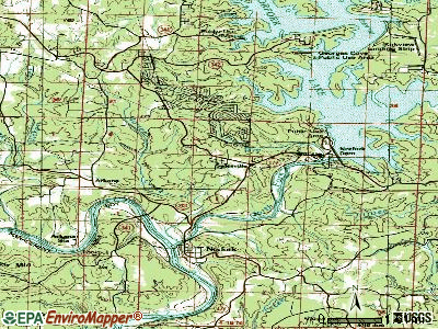 Salesville topographic map