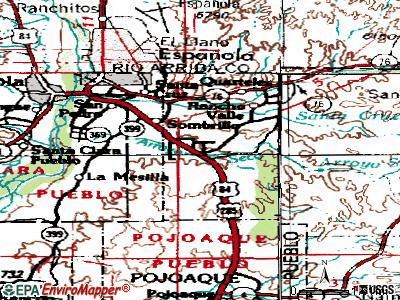 El Valle de Arroyo Seco topographic map