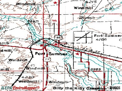 Fort Sumner topographic map
