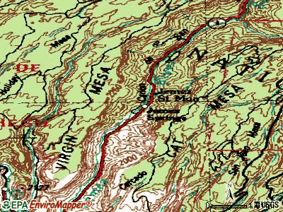 Jemez Springs topographic map