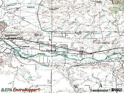 Kirtland topographic map
