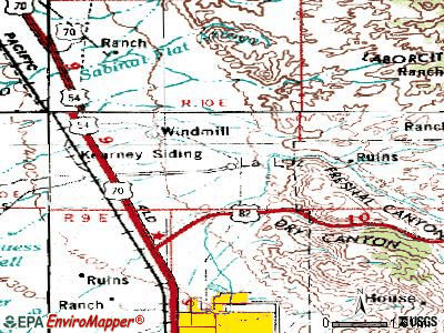 La Luz topographic map