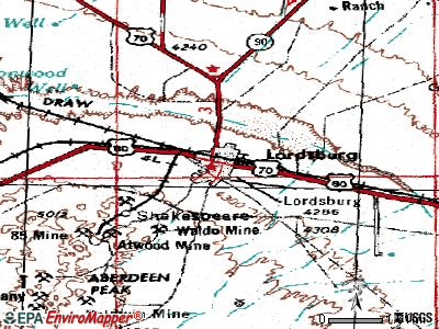 Lordsburg topographic map