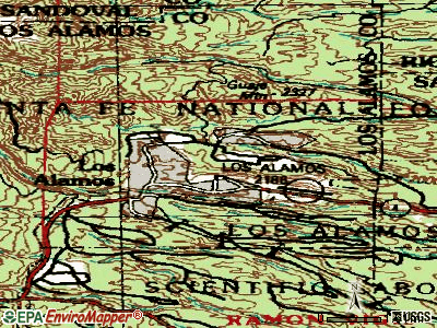 Los Alamos topographic map