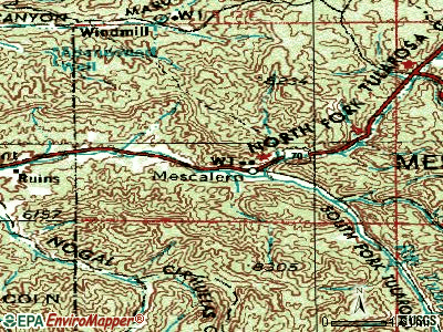 Mescalero topographic map