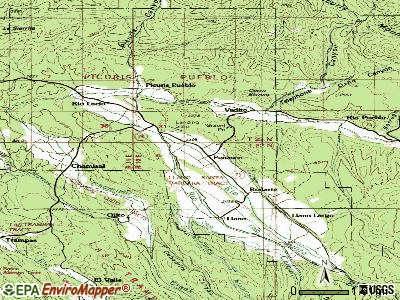 Penasco topographic map