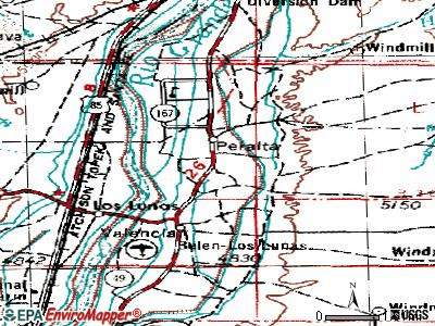 Peralta topographic map