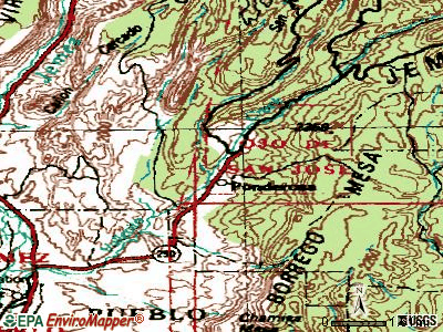 Ponderosa topographic map