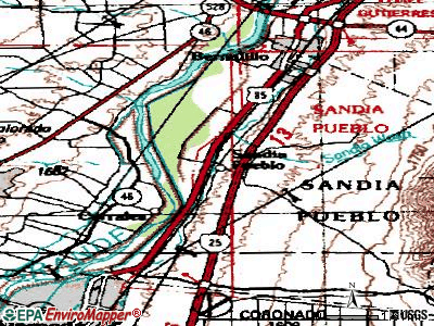 Pueblo of Sandia Village topographic map