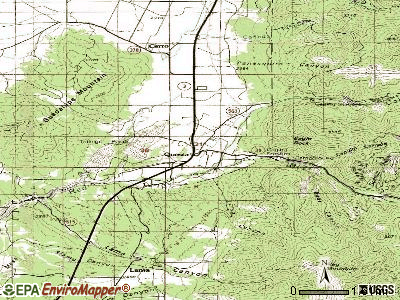 Questa topographic map