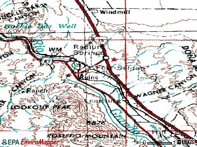 Radium Springs topographic map