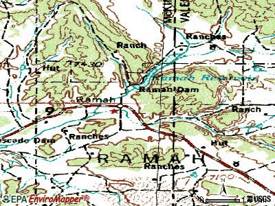 Ramah topographic map
