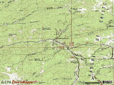 Red River topographic map