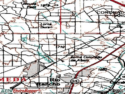 Rio Rancho topographic map