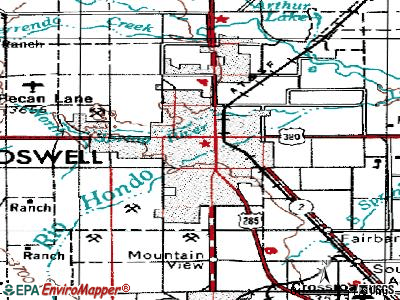 Roswell topographic map