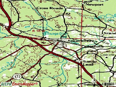 Smackover topographic map