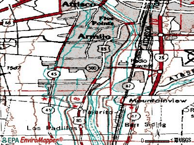 South Valley topographic map