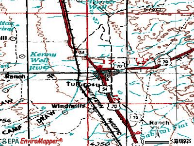 Tularosa topographic map