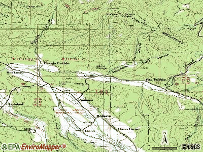 Vadito topographic map
