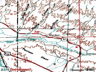 Virden topographic map