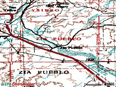 Zia Pueblo topographic map