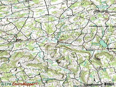 Berne topographic map