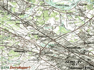 Colonie topographic map