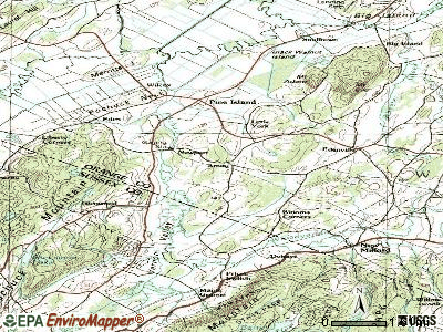 Amity topographic map