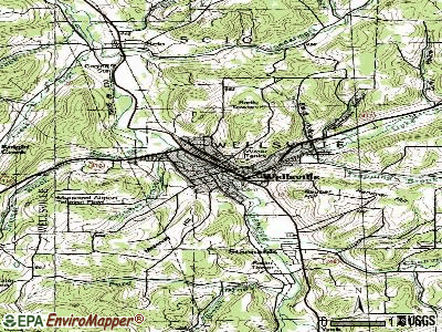 West Almond topographic map