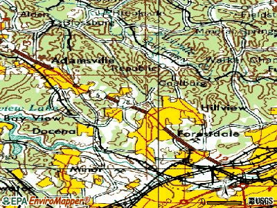 Forestdale topographic map