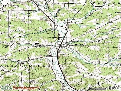 Franklinville topographic map