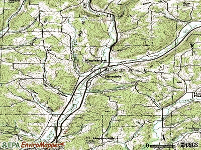 Hinsdale topographic map