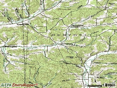 Humphrey topographic map