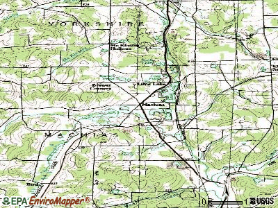Machias topographic map