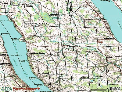 Owasco topographic map