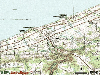 Westfield topographic map