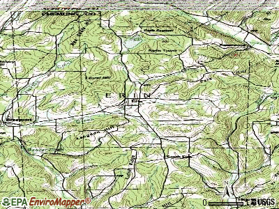 Erin topographic map