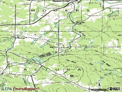 Altona topographic map