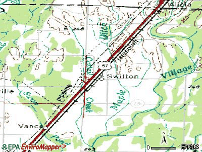 Swifton topographic map