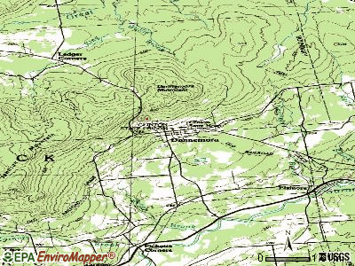 Ancram topographic map