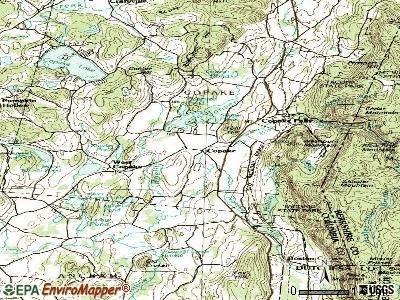 Copake topographic map