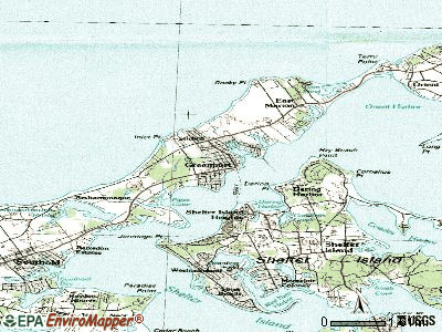 Greenport topographic map