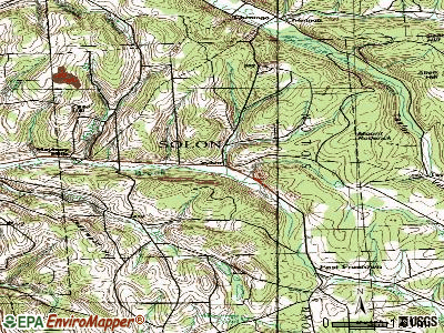 Solon topographic map