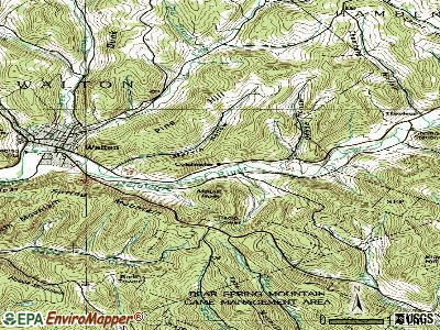 Colchester topographic map