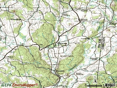 Amenia topographic map