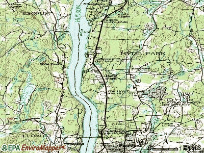 Milan topographic map