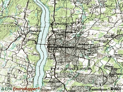 Poughkeepsie topographic map